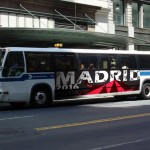 Madrid Poster: top part of 3-in-1 poster on bus