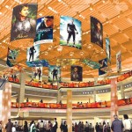 Rendition of atrium with the Bollywood theme